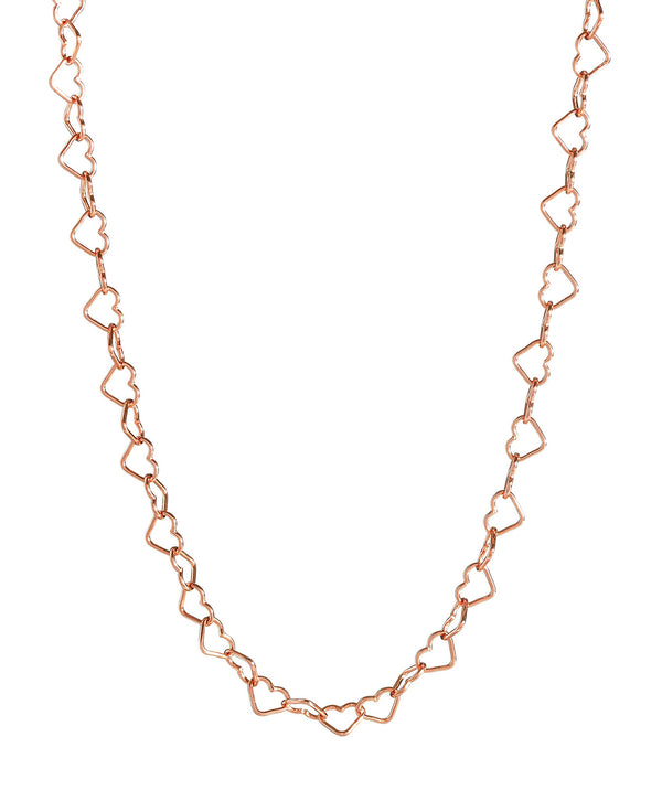 'Mandisa' Rose Gold Plated Sterling Silver Heart Chain Necklace image 1