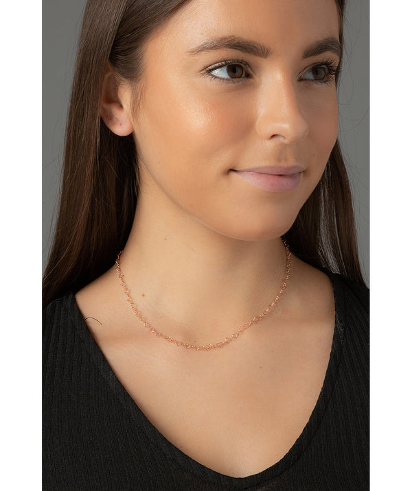 'Mandisa' Rose Gold Plated Sterling Silver Heart Chain Necklace image 2
