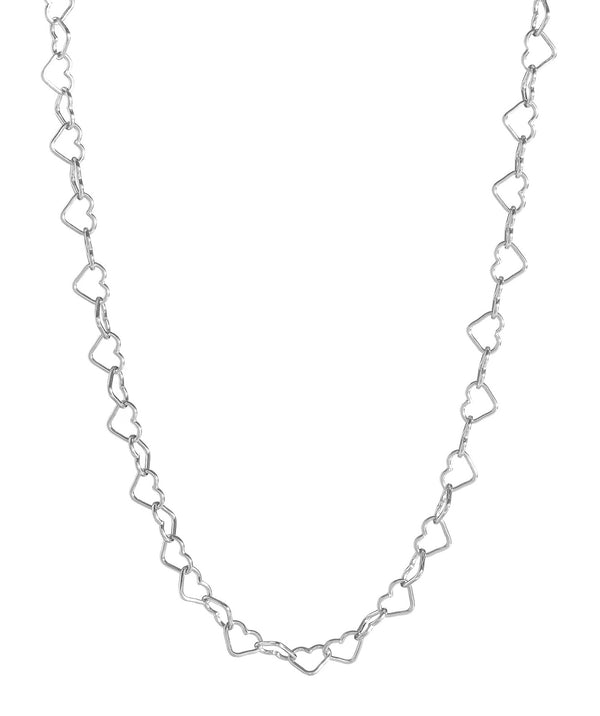 'Mandisa' Sterling Silver Heart Chain Necklace image 1