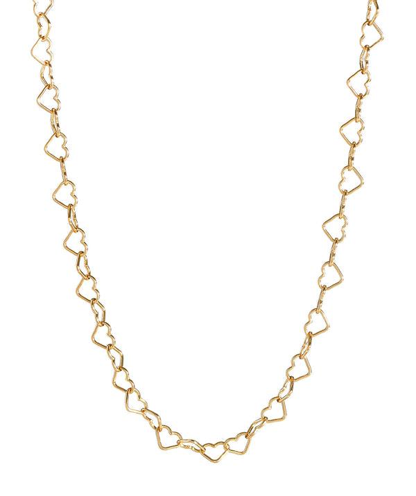 'Mandisa' Gold Plated Sterling Silver Heart Chain Necklace image 1