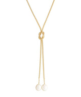'Aruru' Gold Plated Sterling Silver Dual Pearl Necklace image 1