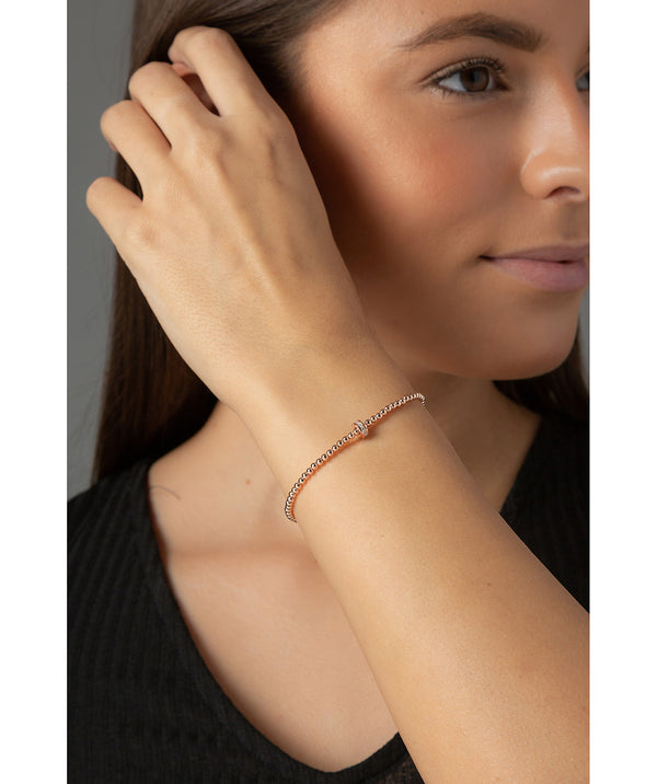 Gift Packaged 'Lizzie' 18ct Rose Gold Plated Sterling Silver Bead Bracelet