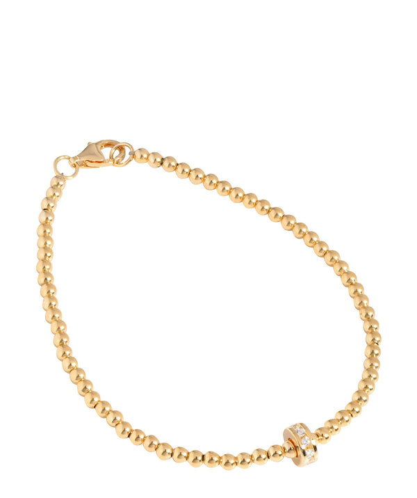 'Lizzie' Yellow Gold Plated Sterling Silver Bead Bracelet image 1