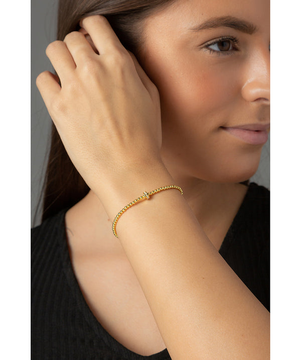 'Lizzie' Yellow Gold Plated Sterling Silver Bead Bracelet image 2