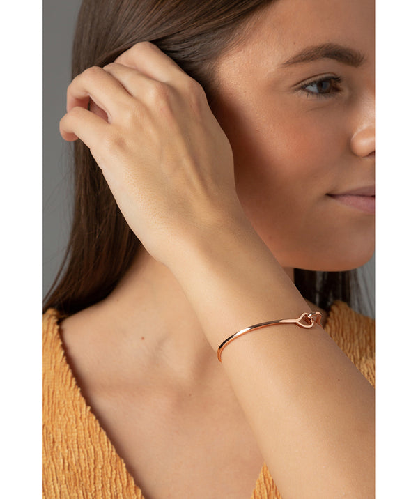 'Monica' Rose Gold Plated Sterling Silver Hook Bangle image 2