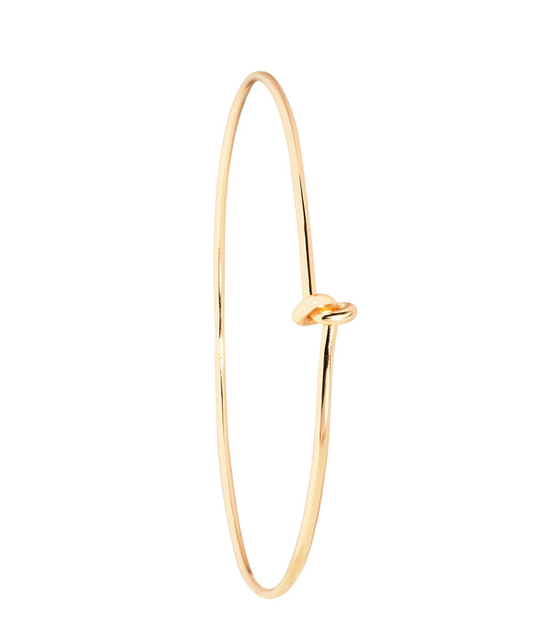 'Rebekah' Yellow Gold Plated Sterling Silver Knotted Bangle image 1