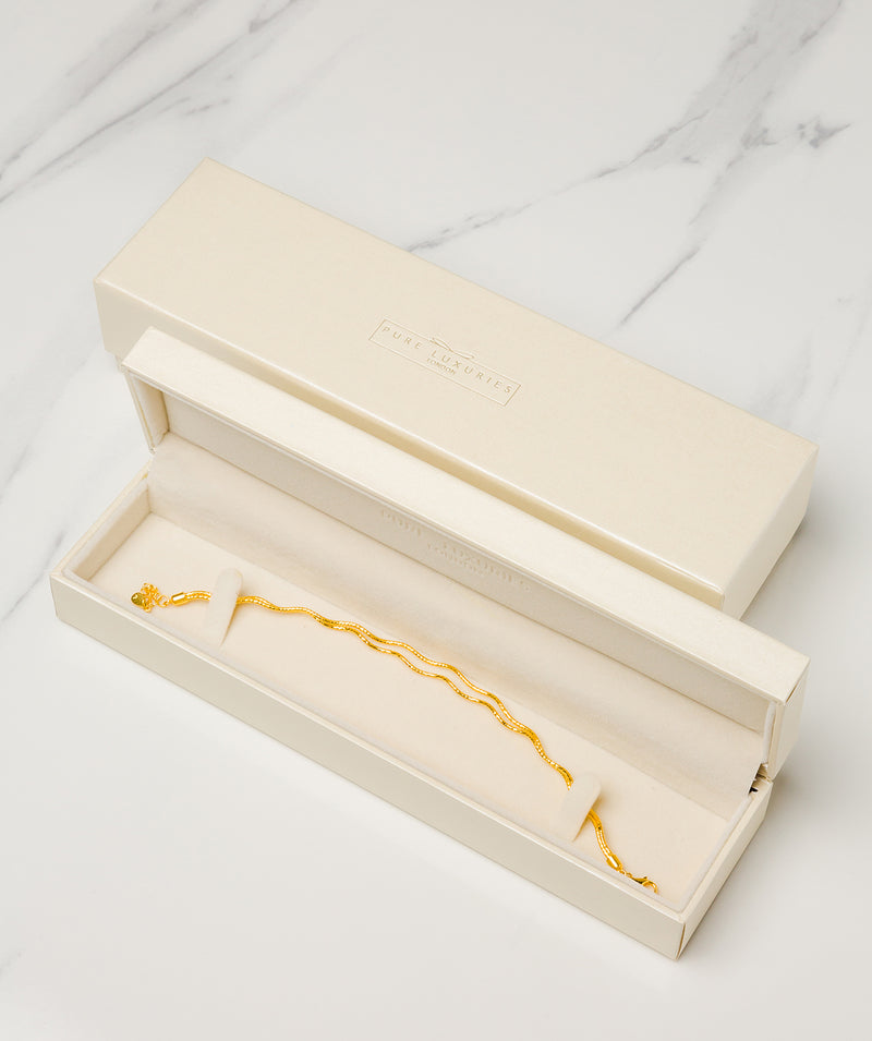 Gift Packaged 'Orla' 18ct Yellow Gold Plated Sterling Silver Bracelet