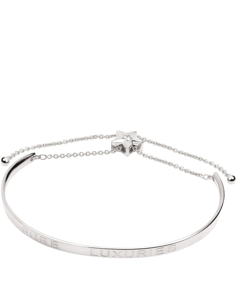 Gift Packaged 'Elisa' Sterling Silver Shooting Star Bangle