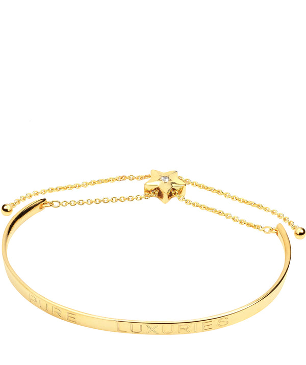 Gift Packaged 'Elisa' 18ct Yellow Gold Plated Sterling Silver Shooting Star Bangle