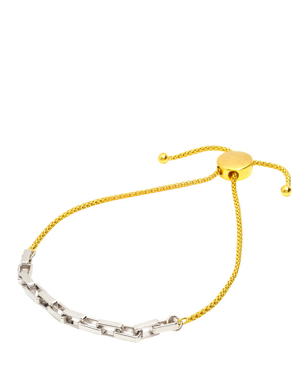 Gift Packaged 'Virginia' 18ct Yellow Gold Plated Sterling Silver Chain Design Bracelet