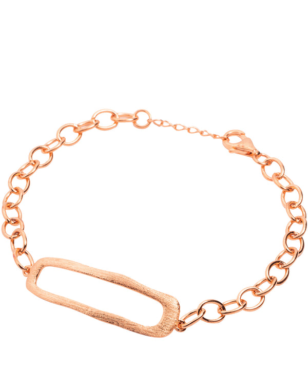 Gift Packaged 'Lilian' 18ct Rose Gold Plated Sterling Silver Link Bracelet