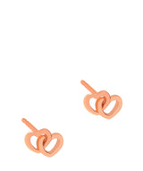 Gift Packaged 'Nicasia' 18ct Rose Gold Plated Sterling Silver Linked Heart Earrings