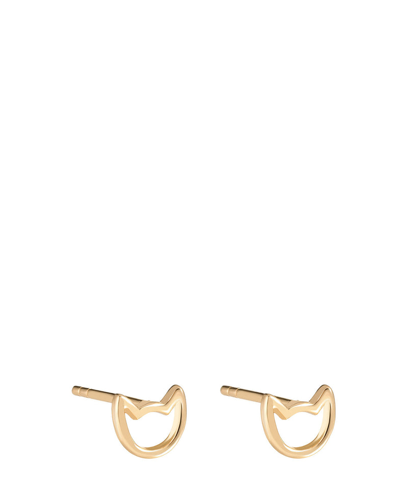 'Fatoumata' Gold Plated Sterling Silver Cat Earrings image 1