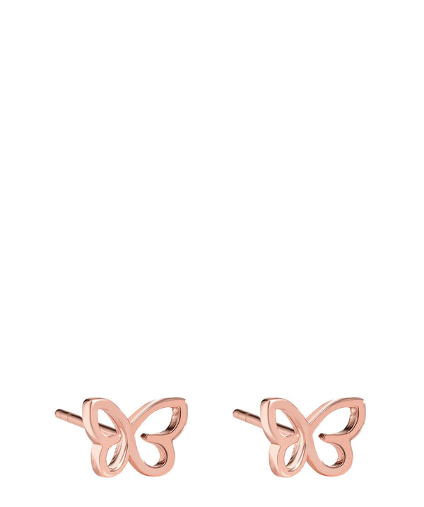 'Campana' Rose Gold Plated Sterling Silver Butterfly Earrings image 1