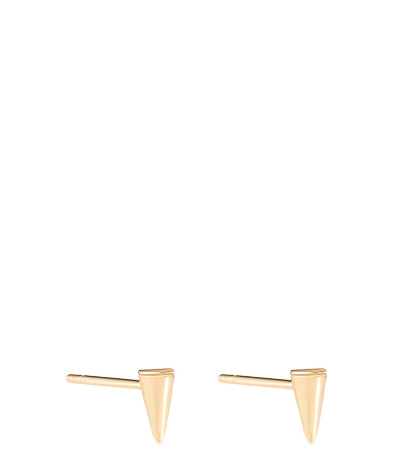 'Laurentia' Gold Plated Sterling Silver Conical Stud Earrings image 1