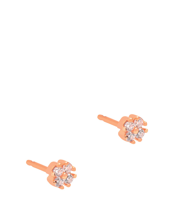 Gift Packaged 'Erin' 18ct Rose Gold Plated Sterling Silver & Cubic Zirconia Stud Earrings