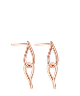 'Hilaria' Rose Gold Plated Sterling Silver Hanging Teardrops Earrings image 1