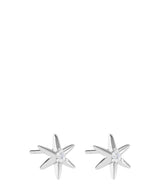 'Minerva' Sterling Silver Star Earrings image 1