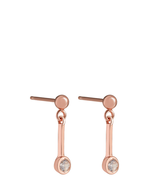 'Margaux' Rose Gold Plated Sterling Silver Hanging Crystal Earrings image 1