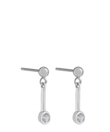 'Margaux' Sterling Silver Hanging Crystal Earrings image 1