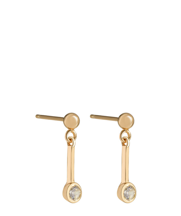 'Margaux' Gold Plated Sterling Silver Hanging Crystal Earrings image 1