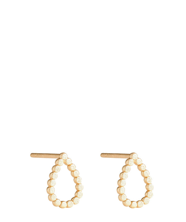 Athalia' Gold Plated Sterling Silver Teardrop Earrings image 1
