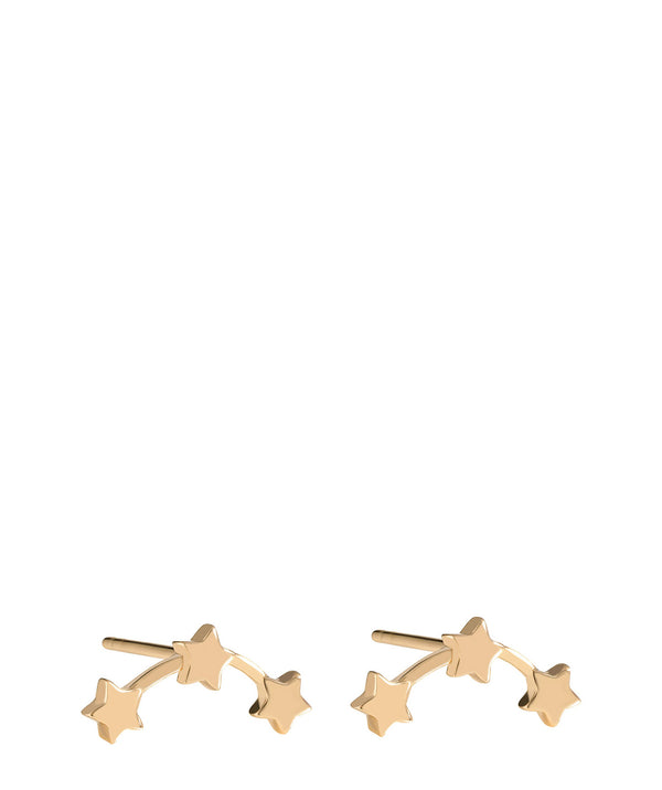 'Meriall' Gold Plated Sterling Silver Trio of Stars Earrings image 1