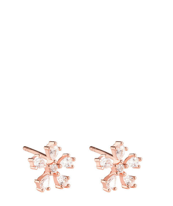 'Ligeia' Rose Gold Plated Sterling Silver Snowflake Earrings image 1