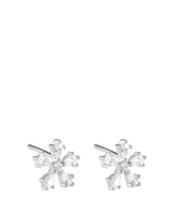 'Ligeia' Sterling Silver Snowflake Earrings image 1
