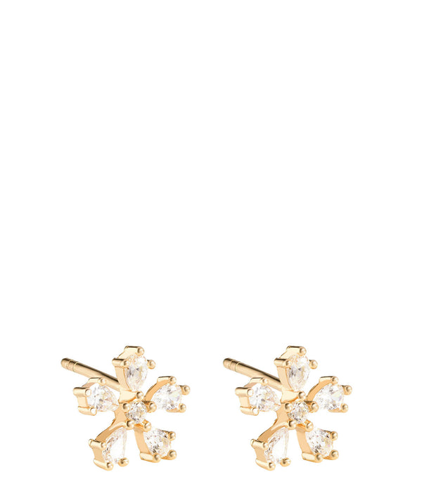 'Ligeia' Gold Plated Sterling Silver Snowflake Earrings image 1