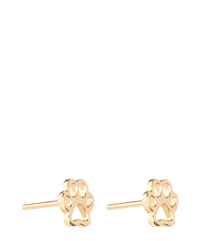 'Arria' Gold Plated Sterling Silver Animal Paw Earrings image 1