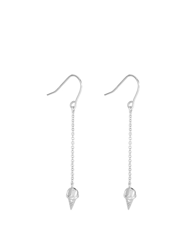 'Gelato' Sterling Silver Ice Cream Cone Earrings image 1
