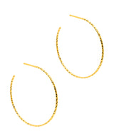 Gift Packaged 'Rhian' 18ct Yellow Gold Plated Sterling Silver Hoop Earrings
