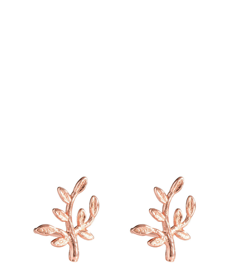 'Gaia' Rose Gold Plated Sterling Silver Ornate Branch Earrings image 1