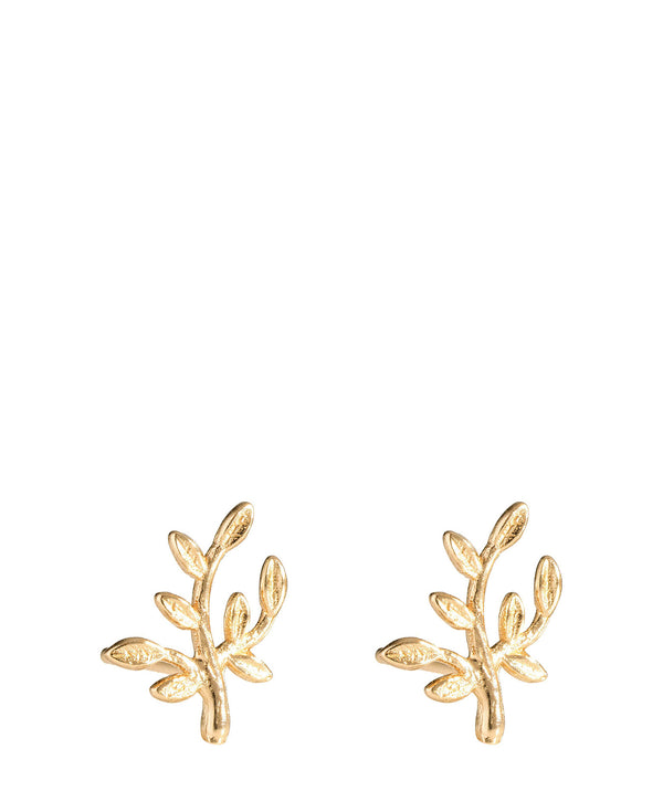 'Gaia' Gold Plated Sterling Silver Ornate Branch Earrings image 1