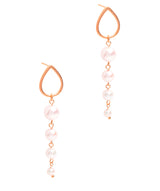 Gift Packaged 'Esperanza' 18ct Rose Gold Plated Sterling Silver Freshwater Pearl Earrings