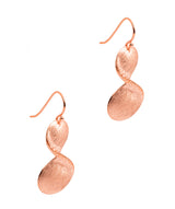 Gift Packaged 'Diane' 18ct Rose Gold Plated Sterling Silver Drop Earrings