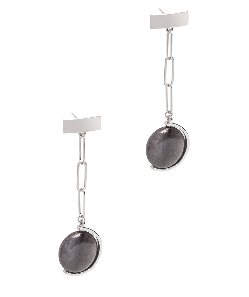 Gift Packaged 'Lucille' Sterling Silver Silver & Gemstone Drop Earrings