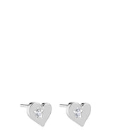 'Argentia' Sterling Silver Heart Earrings image 1