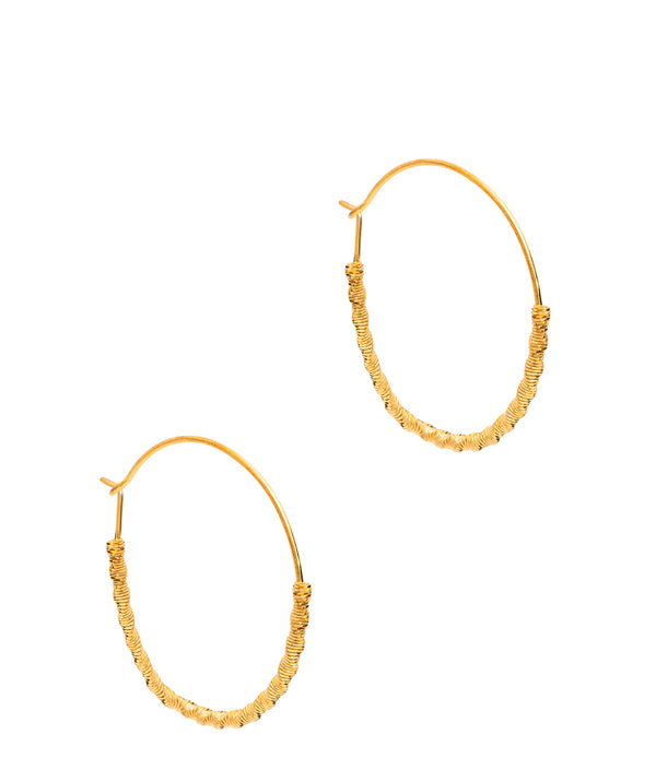 Gift Packaged 'Kimi' 18ct Yellow Gold Plated Sterling Silver Coil Hooped Earrings