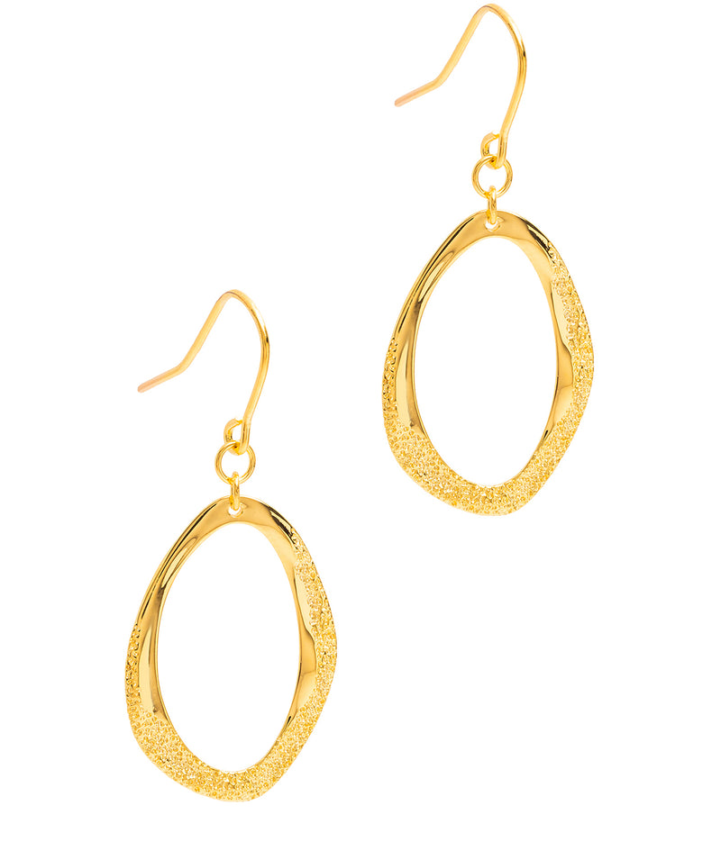 Gift Packaged 'Soraya' 18ct Yellow Gold Plated Sterling Silver Pendant Earrings