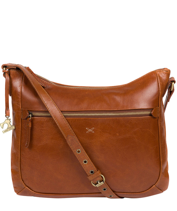 'Kay' Bourbon Leather Cross Body Bag Pure Luxuries London