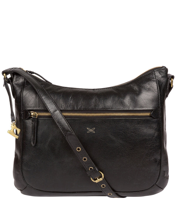 'Kay' Ebony Leather Cross Body Bag image 1