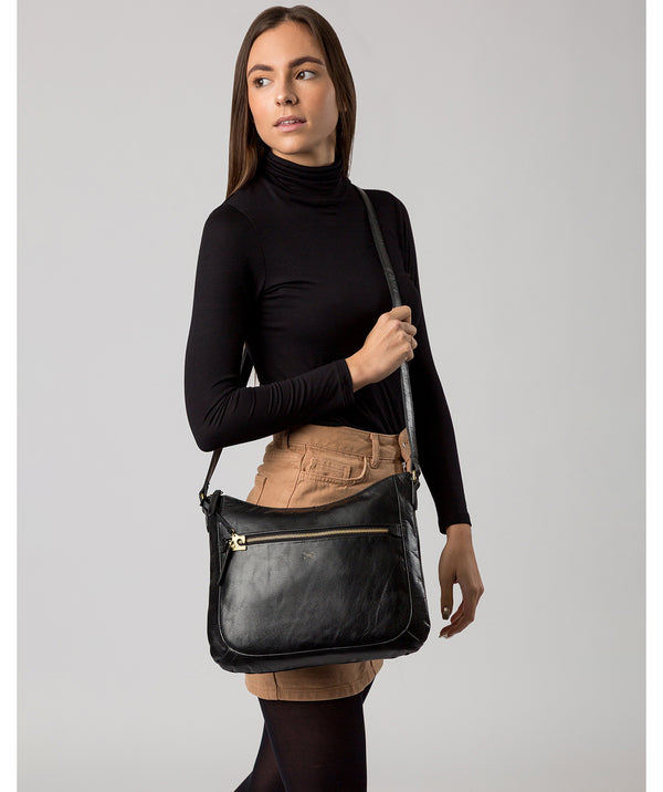 'Kay' Ebony Leather Cross Body Bag image 2