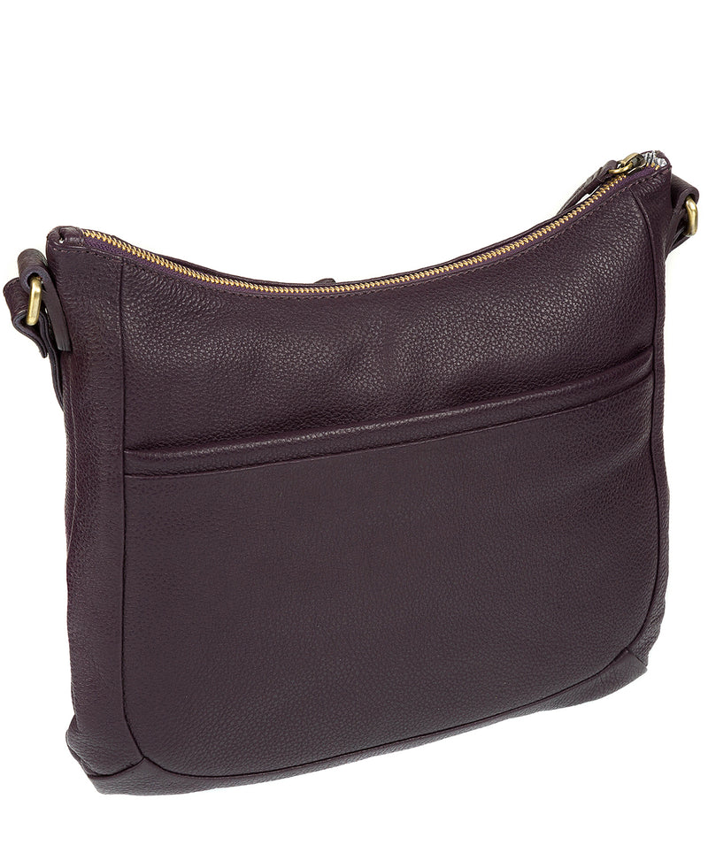 'Kay' Plum Leather Cross Body Bag