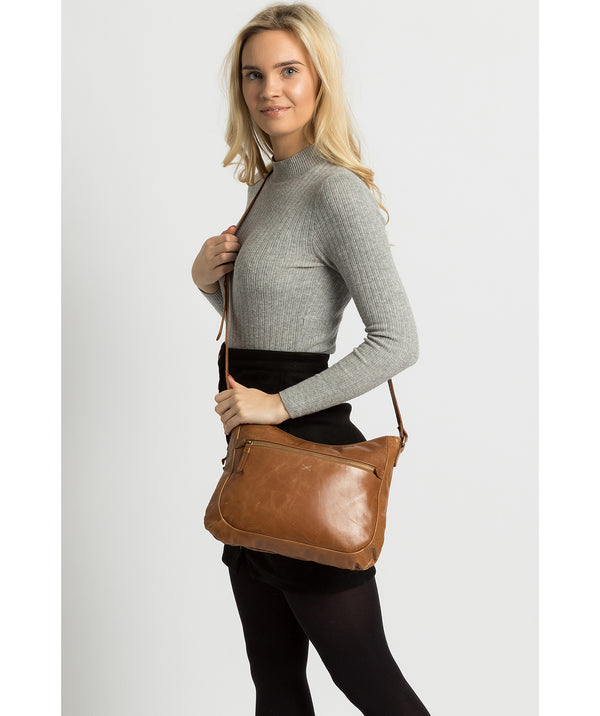 'Kay' Saddle Leather Cross Body Bag image 2