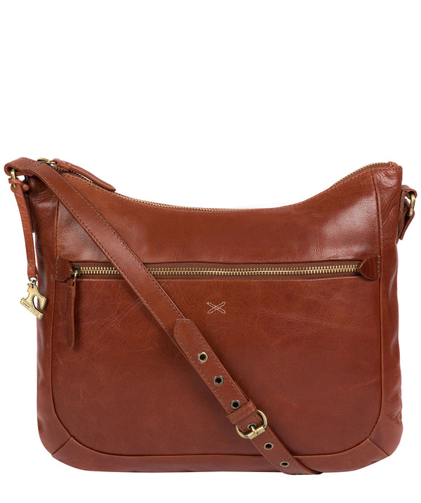 'Kay' Whiskey Leather Cross Body Bag Pure Luxuries London