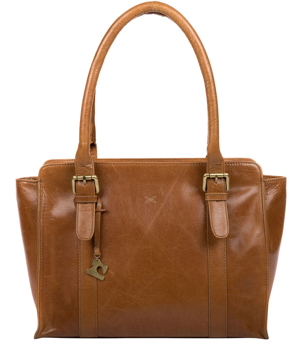 'Scarlett' Saddle Leather Handbag image 1