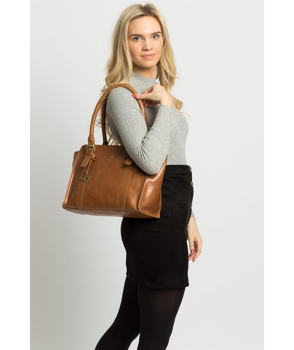 'Scarlett' Saddle Leather Handbag image 2