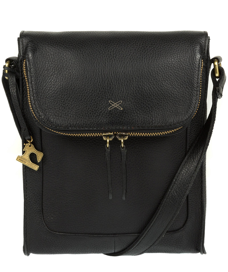 'Sophia' Black Leather Cross Body Bag image 1